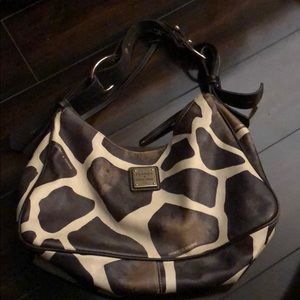 Dooney & Burke cow print purse